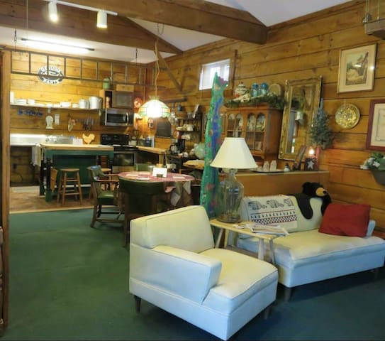 Roomy, cozy, and comfortable. Fun and eclectic decor.