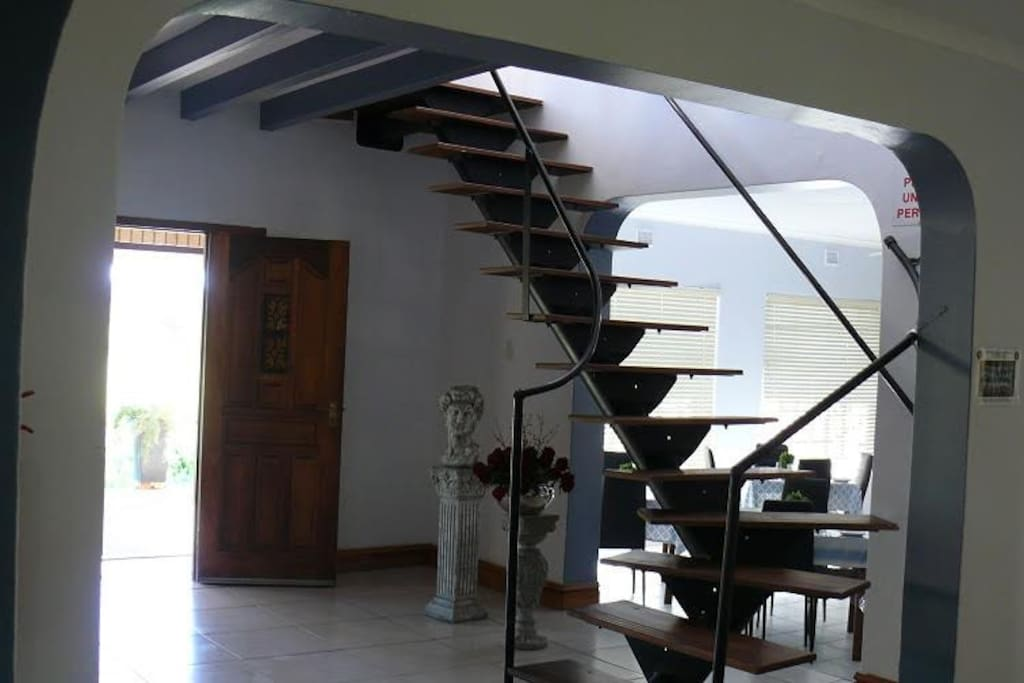 Stairs leading to up stairs