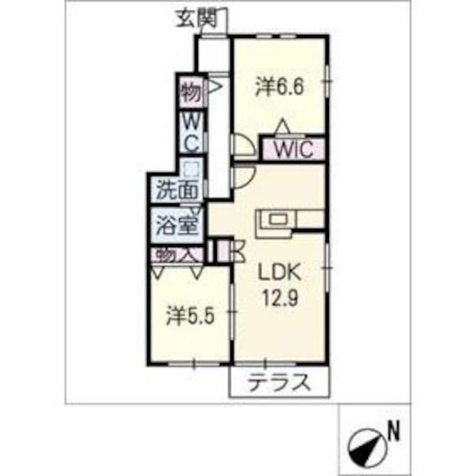 Use Space ご利用頂けるスペース(2LDK) 58.69m2