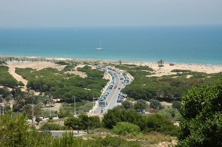vista desde gran alacant a la playa del carabassi - View of carabassi beach from gran alacant