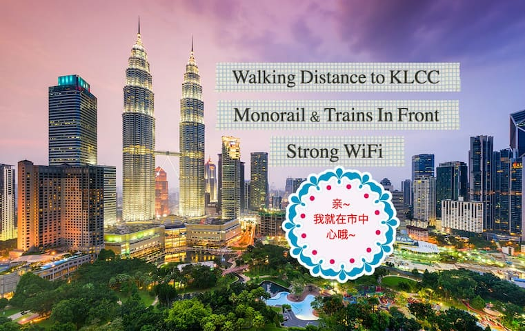 *PROMO* Walking Distance to KLCC+Monorail+Trains