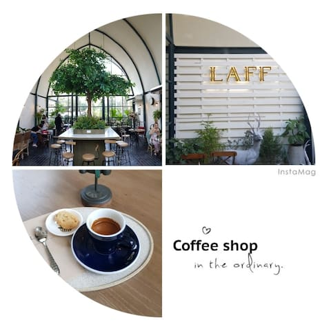 5 minutes to an chic coffee shop
