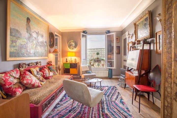 Lumineux 3 pièces vu tour eiffel - Paris - Appartement