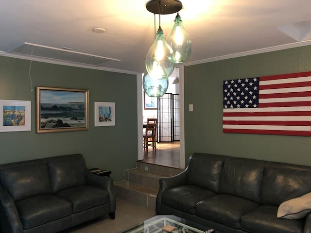 """Sea Glass Chandelier installed in Aug, 2019 !  """"Raising the roof"""" & always getting better ;)"""