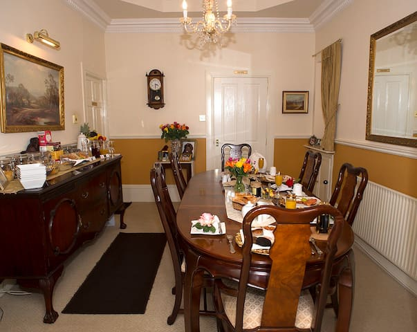 Our dining room awaits