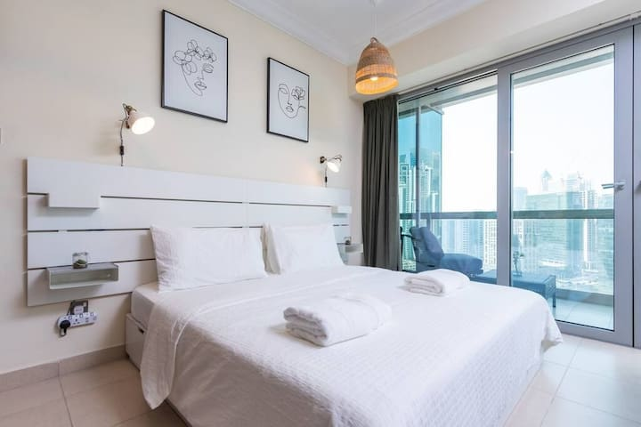 High-quality king-sized mattress with phenomonal views