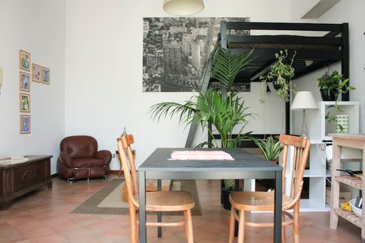 Super cute loft with roof terrace on the old town