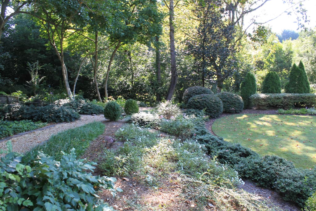 Garden walkway next to the Carriage House