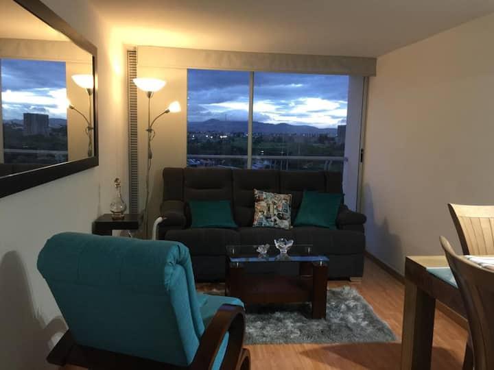 Apartamento nuevo, sky view stay in Bogotá
