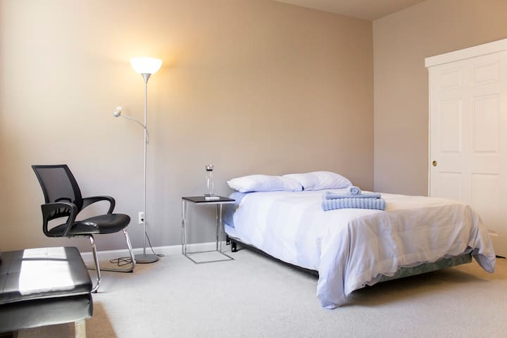 - Bright and spacious quiet room w/ private bath -