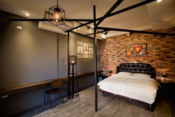 漫慢設計民宿-工業loft雙人房