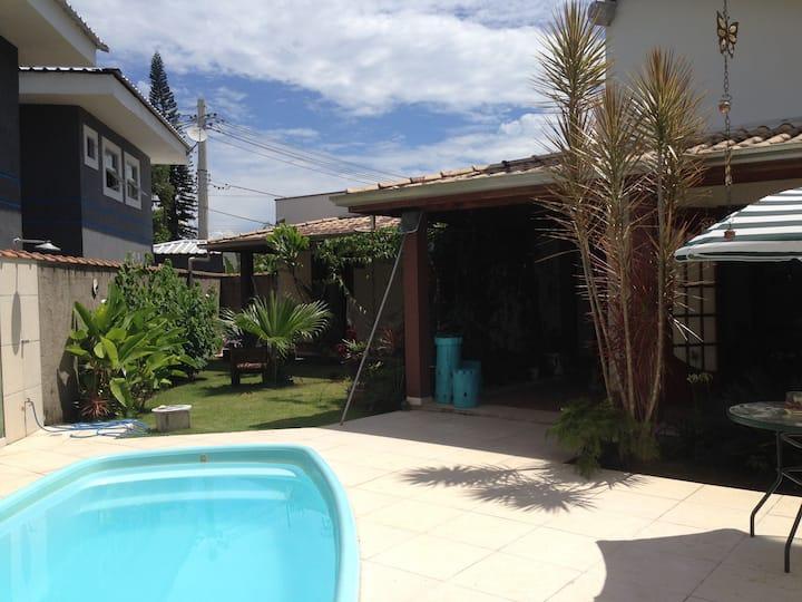 bedroom with bathroom -  Lagoinha beach