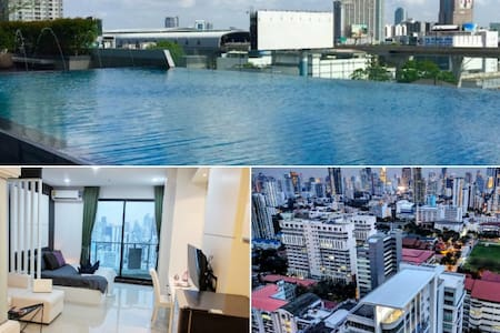 5 Star Luxury, 1 min to Subway, Pool, Wifi, Gym - Bangkok