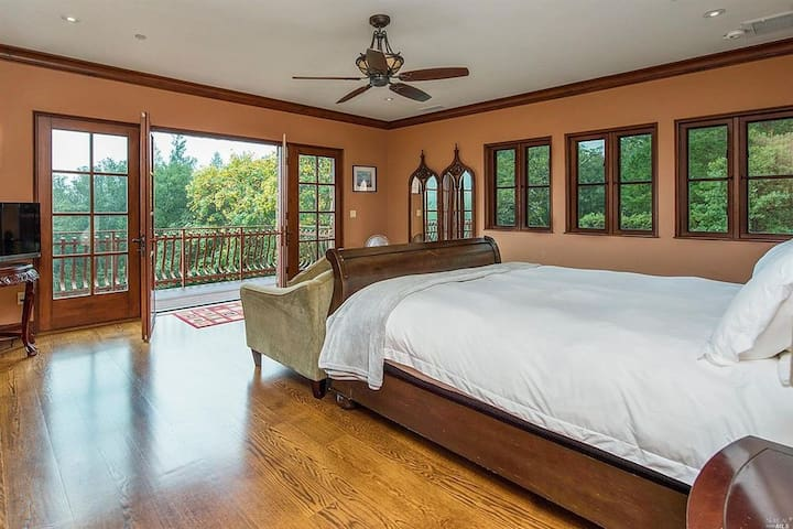 Master suite and deck
