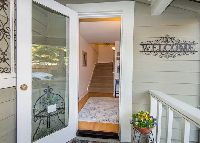 Private entryway.