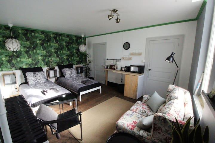 Ruime, luxe kamer in notariswoning