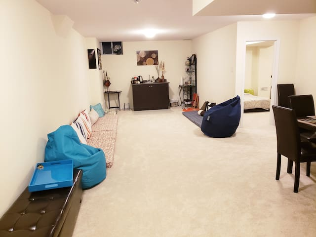 Spacious one bedroom basement (private entrance)
