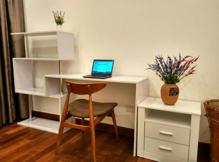 Study table in bedroom 1