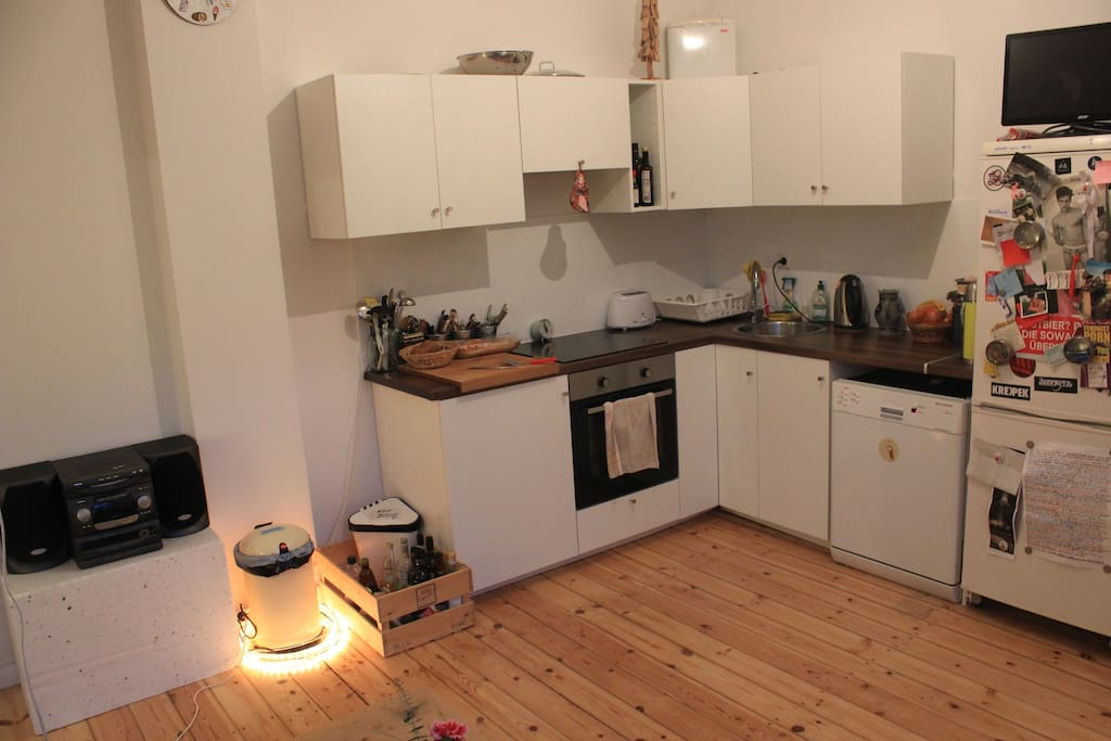 ... with open combined kitchen