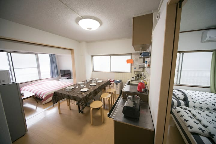 [24]8 people 2BR close to Hakata,Tenjin,Canal city