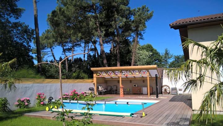VILLA TENY 5 ch piscine chauffée BASSIN d'ARCACHON