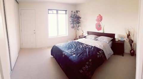 Bedroom with Private Bathroom and Balcony!