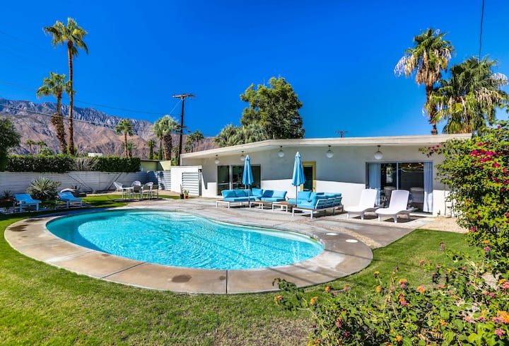Mid-Century Wexler Gem with Private Pool, Fire Pit