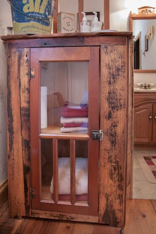 Linen Cabinet handmade by Bill himself!