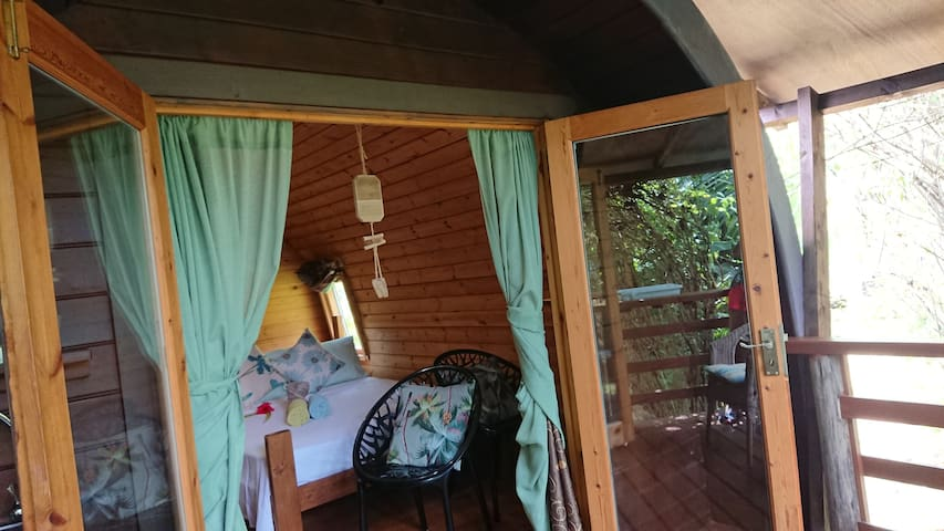 A PEACE IN PARADISE (Blue  pigeon Log cabana)