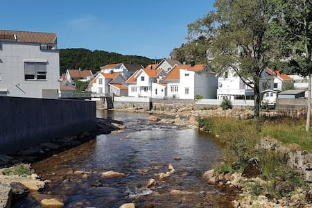 Charming river home in the heart of Egersund