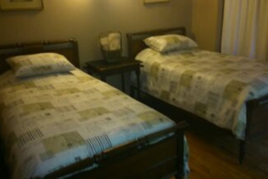 Private room.  Comfortable twin beds.