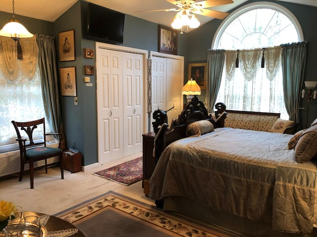 Guest Room includes private bath, kitchenette, roomy closet, Direct TV, and WiFi
