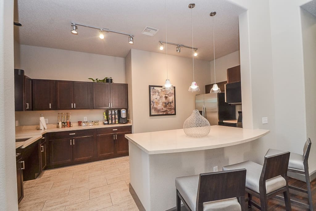 Resident kitchen and coffee bar