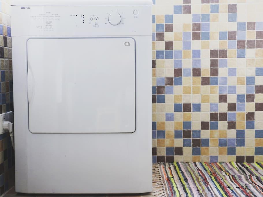 配备贝科烘干机,30分钟即可烘干衣服。