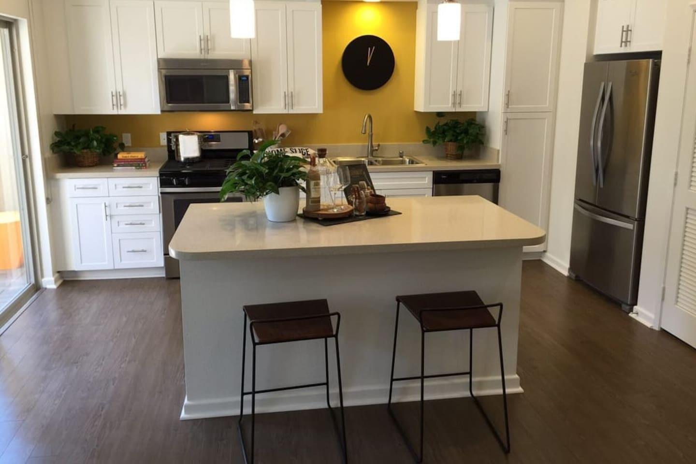 Modern Kitchen with Center Island for convenient meals.