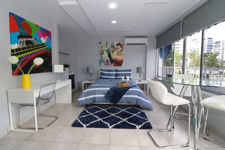 Elegant and Modern Studio Apts. in Isla Verde (2F)