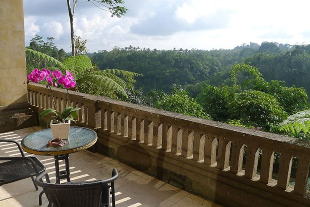 Private Veranda looking over the valley