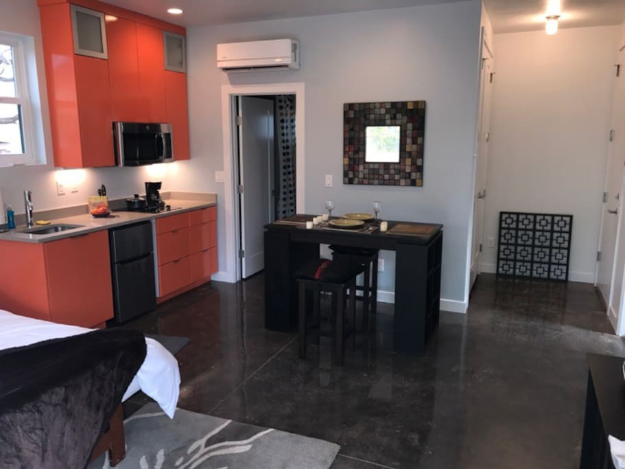 The kitchen/dining offers a great space for any size meal or take-out