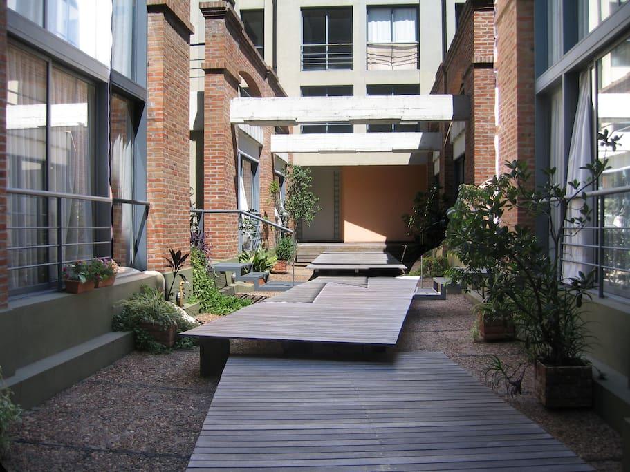 patio del edificio