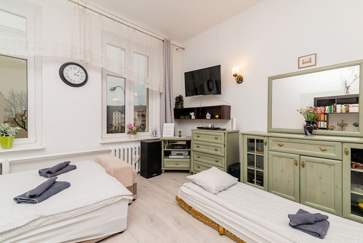 Lux Vintage Apartment,  shopping&railway station