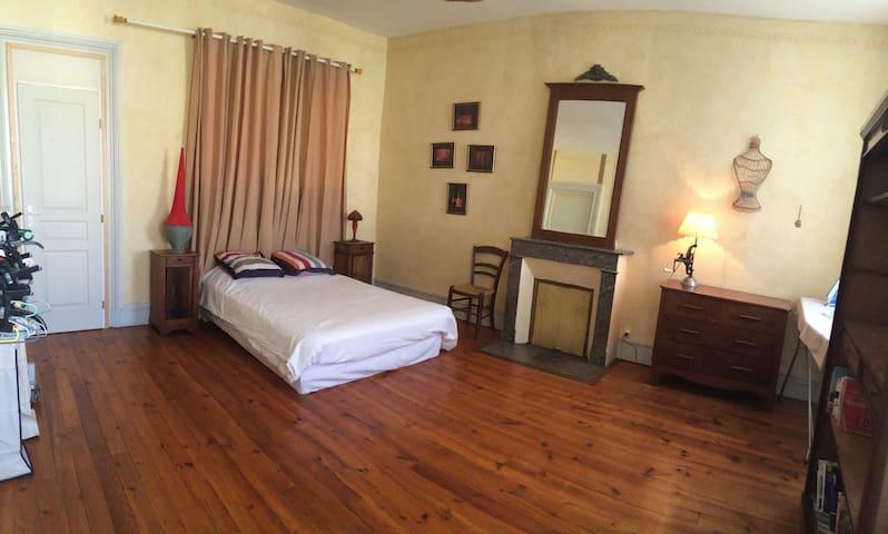 Chambre spacieuse dans maison de charme - Riscle - Rekkehus