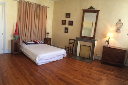 Chambre spacieuse dans maison de charme - Riscle