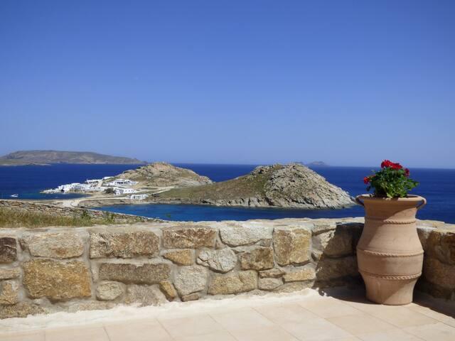 Mykonos villa, family house, imaginary view