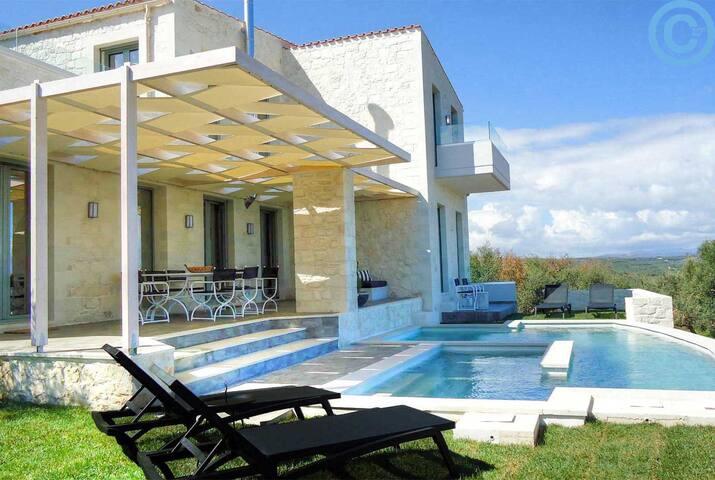 Νew modern style villa near  beach - Kontomari - Casa