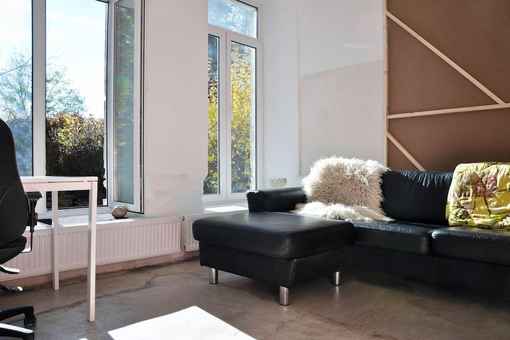 Living room looking onto Garden
