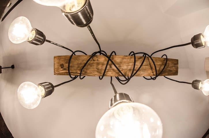 Designed (by us) lamps.