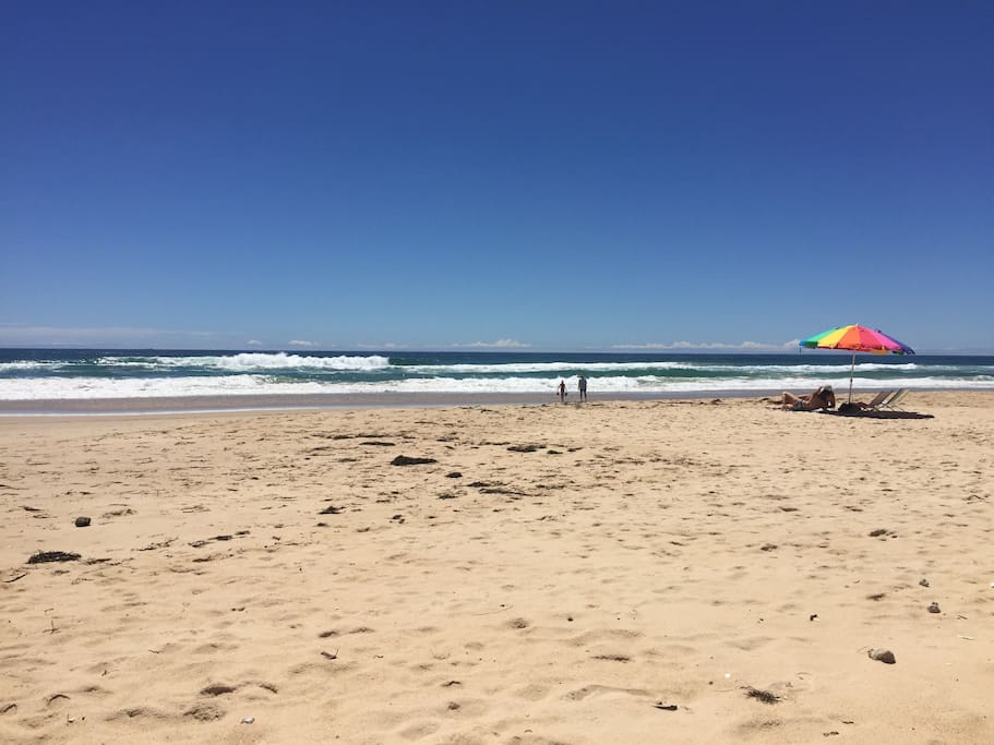 Uncrowded, patrolled beaches
