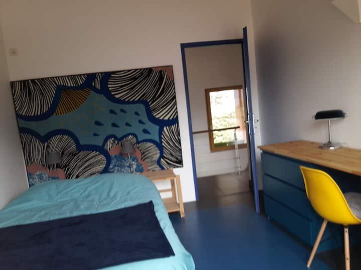 Chambre vue montagne + sdb Airbnb+ terrasse
