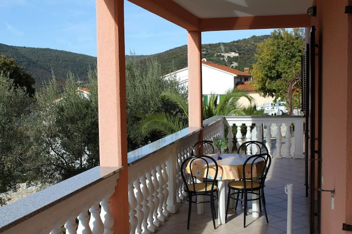 Two bedroom apartment with terrace and sea view Duga Luka (Prtlog), Labin (A-2358-b)