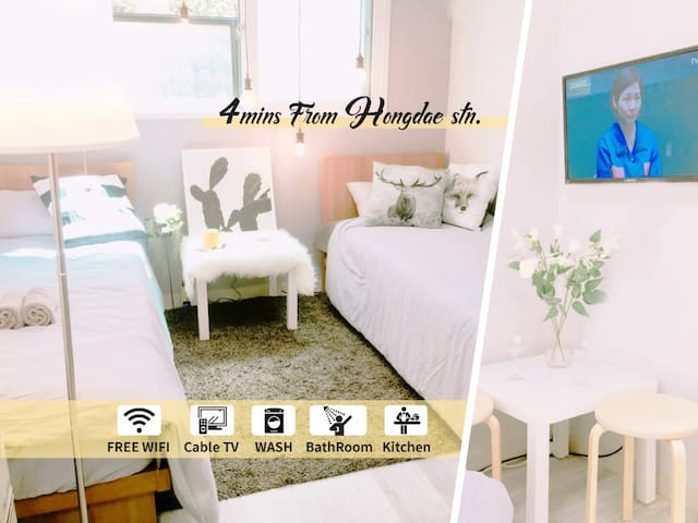 Most Intimate Guest Room_#5mins from Hongdae stn.